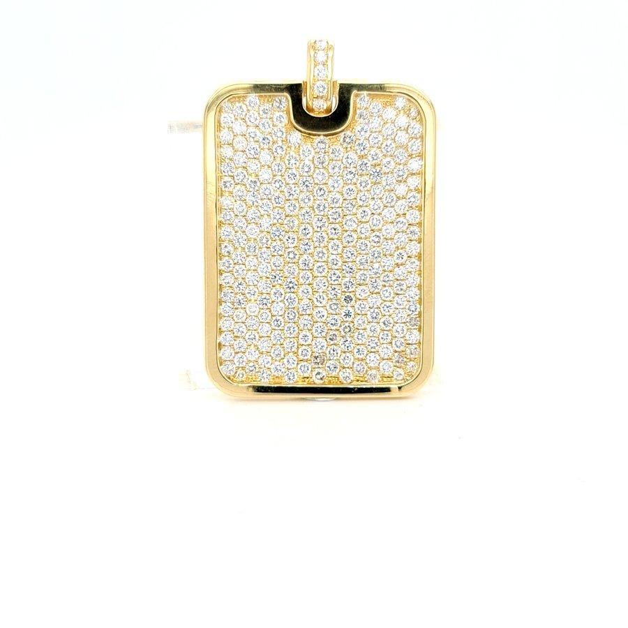 18 karaat geel gouden hanger briljant 14.6 gram