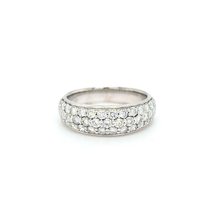 Occasion 18 karaat wit goud ring 0.80 krt briljant 5.3 gram