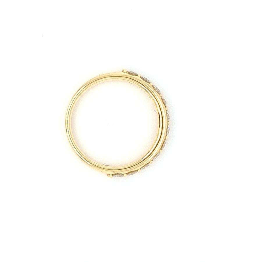 Nieuw 18 karaat geel gouden ring 0.72 briljanten 3.33 gram