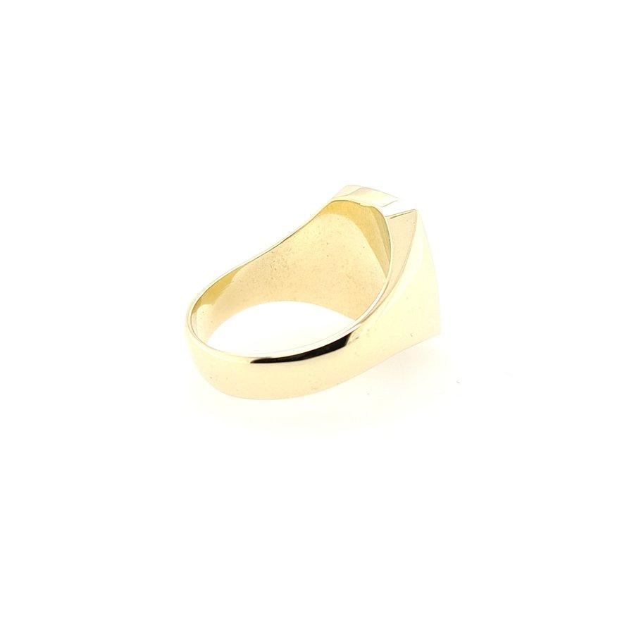 Occasion 14 karaat gouden ring met Carneool