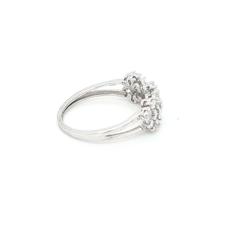 Occasion 18 karat wit gouden ring zirkonia 2.4 gram