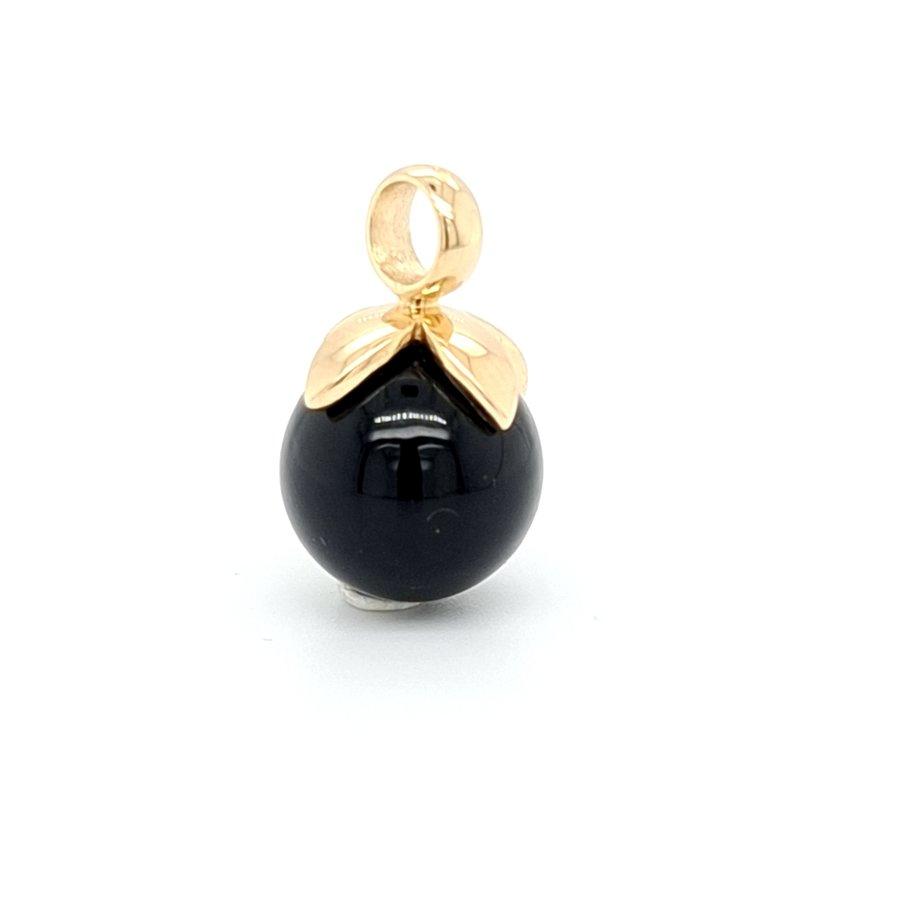 Occasion 14 karaat geel gouden hanger onyx 1.5 gram