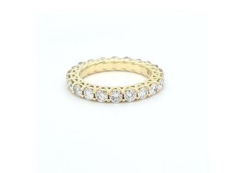 14k geel gouden alliance ring met Briljanten