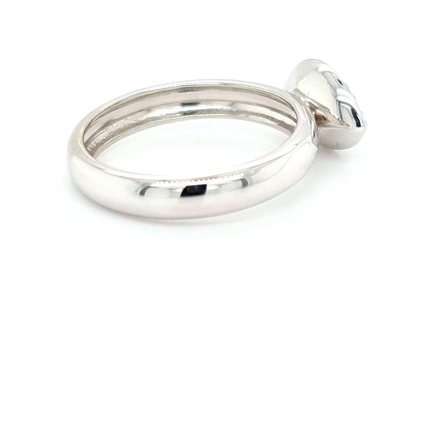 18 karaat wit goud ring markies geslepen diamant / briljanten 4.2 gram