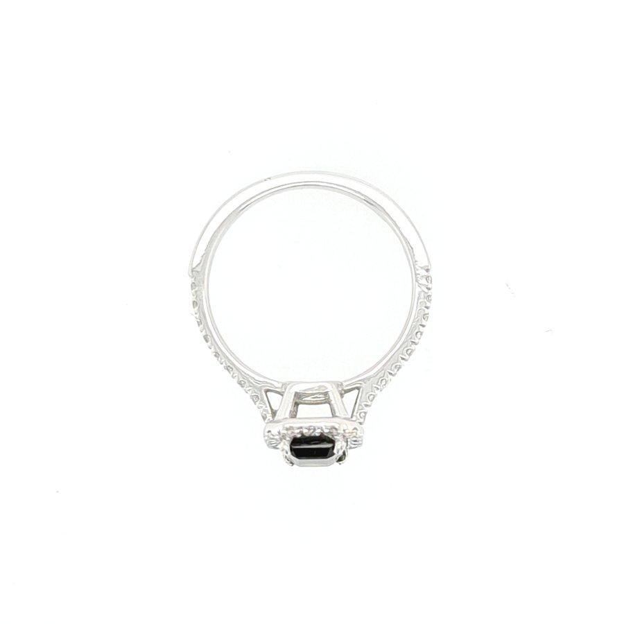 18 karaat wit gouden ring Toermalijn/ briljanten 2.1 gram