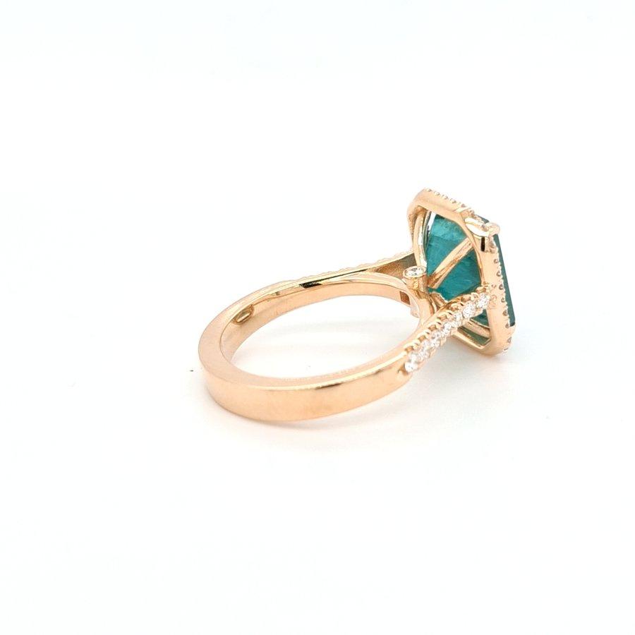 18 karaat rosé gouden ring met natuurlijke grandidierite