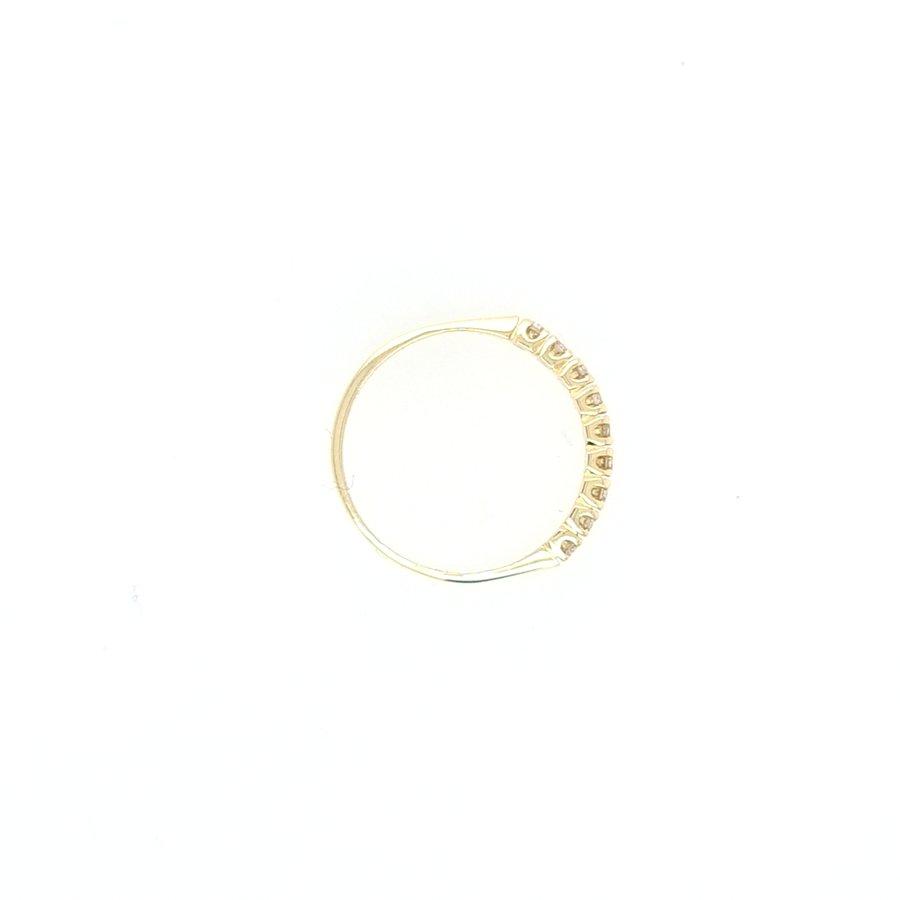 14 Karaat geel gouden ring briljanten