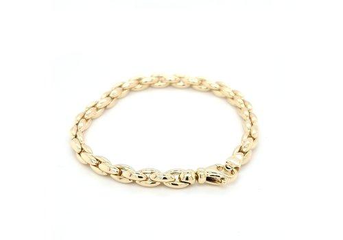 Occasion 14 karaat geel gouden armband 10.5 gram 17.5 cm