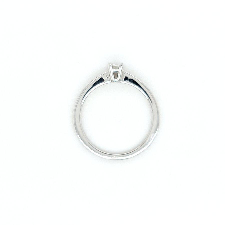 18k witgouden ring met Briljanten en Diamant