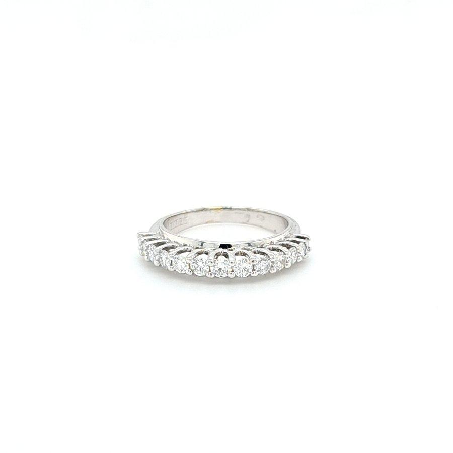 Occasion 14 karaat wit gouden ring briljanten 0.70 krt 4.1 gram