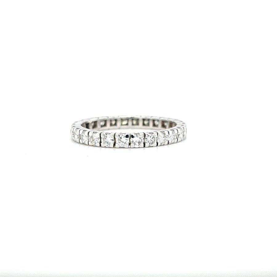 Occasion 14 karaat wit gouden ring briljanten 2.4 gram