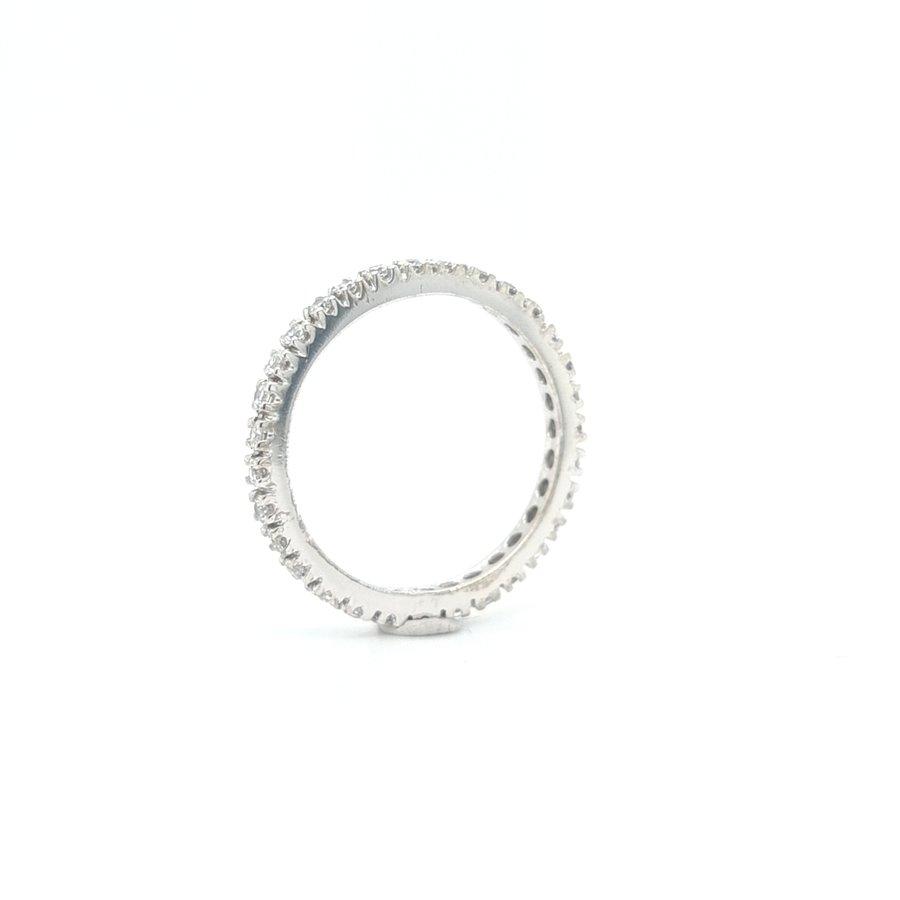 Nieuw 14 karaat wit gouden allianse ring met zirkonia 2.4 gram