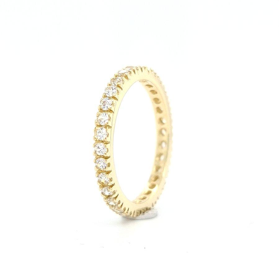 Nieuw 14 karaat geel gouden allianse ring met zirkonia  2.4 gram
