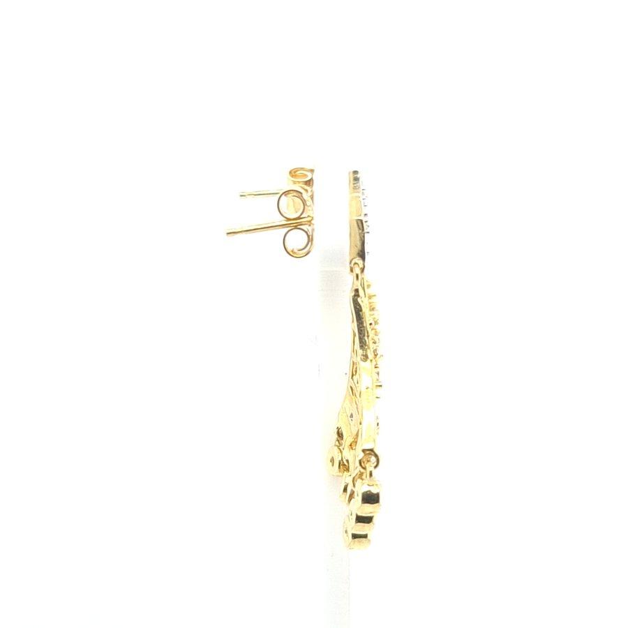 18 Karaat geel gouden oorhanger 0.24 diam 5.2 gram