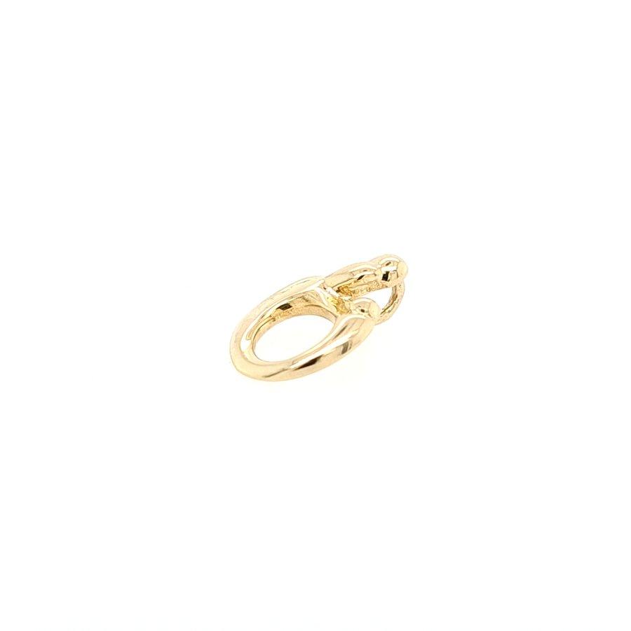 14 Karaat geel gouden Mamour hanger 1.2 gram