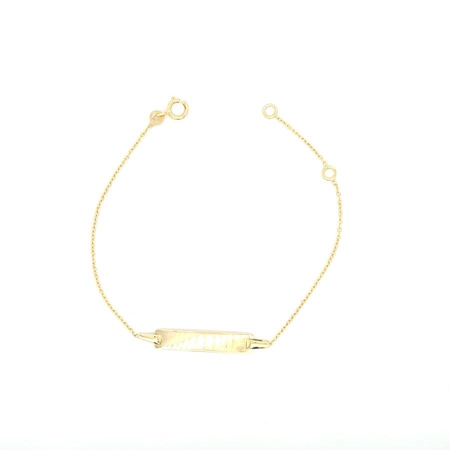 Nieuw 14 karaat geel gouden plaat armband 0.94 gram