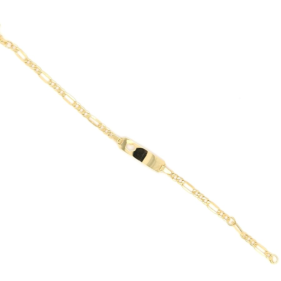 Nieuw 14 karaat geel gouden plaat armband 1.2 gram