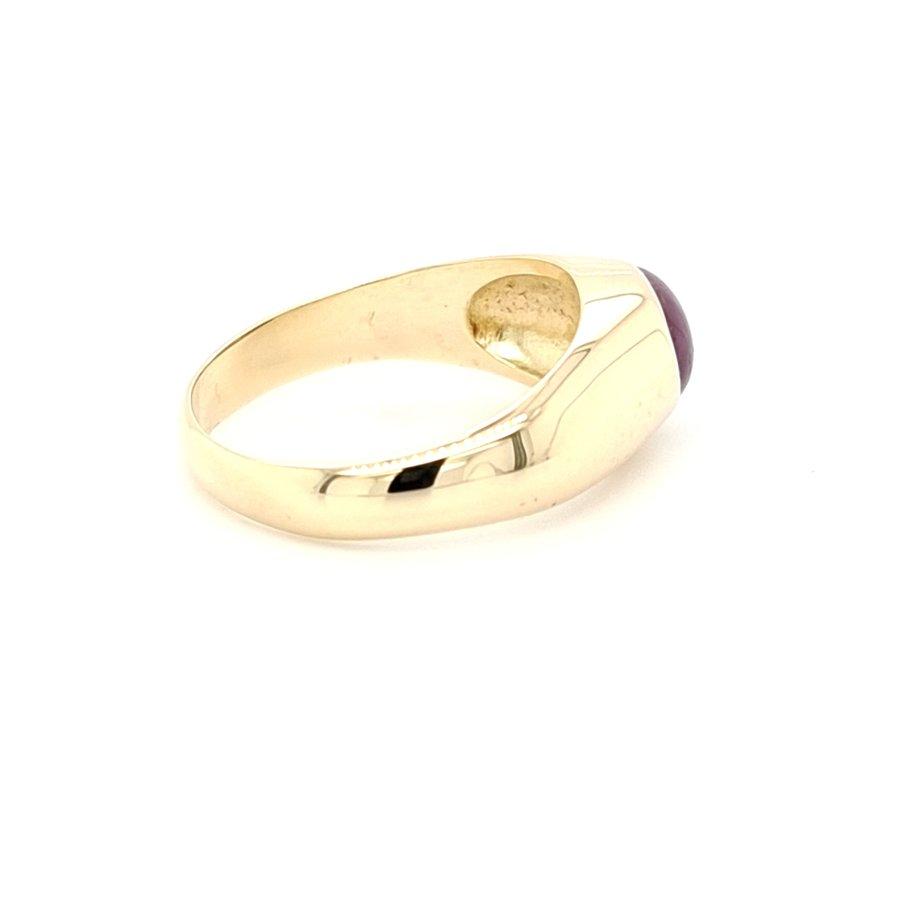 Occasion 14 karaat geel gouden engelse ring