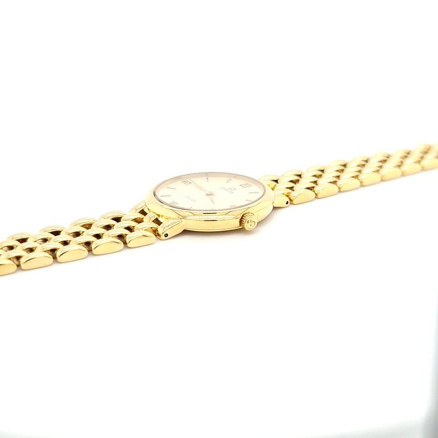 Occasion Omega De Ville 18 karaat goud dames horloge