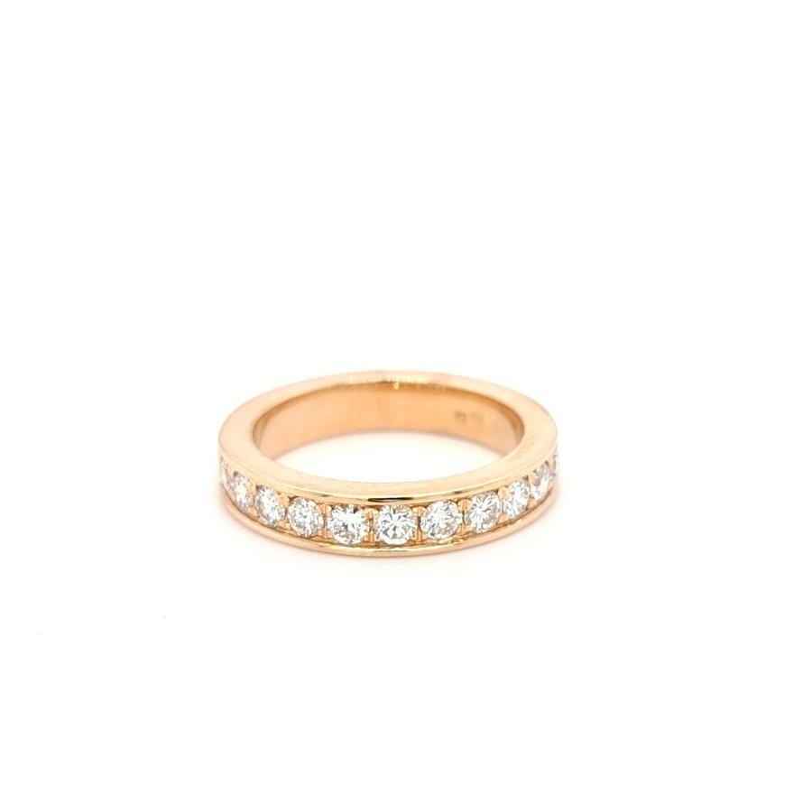 18 karaat rosé gouden ring briljant
