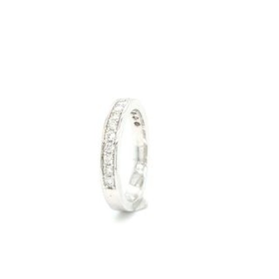 18 Karaat wit gouden ring briljant