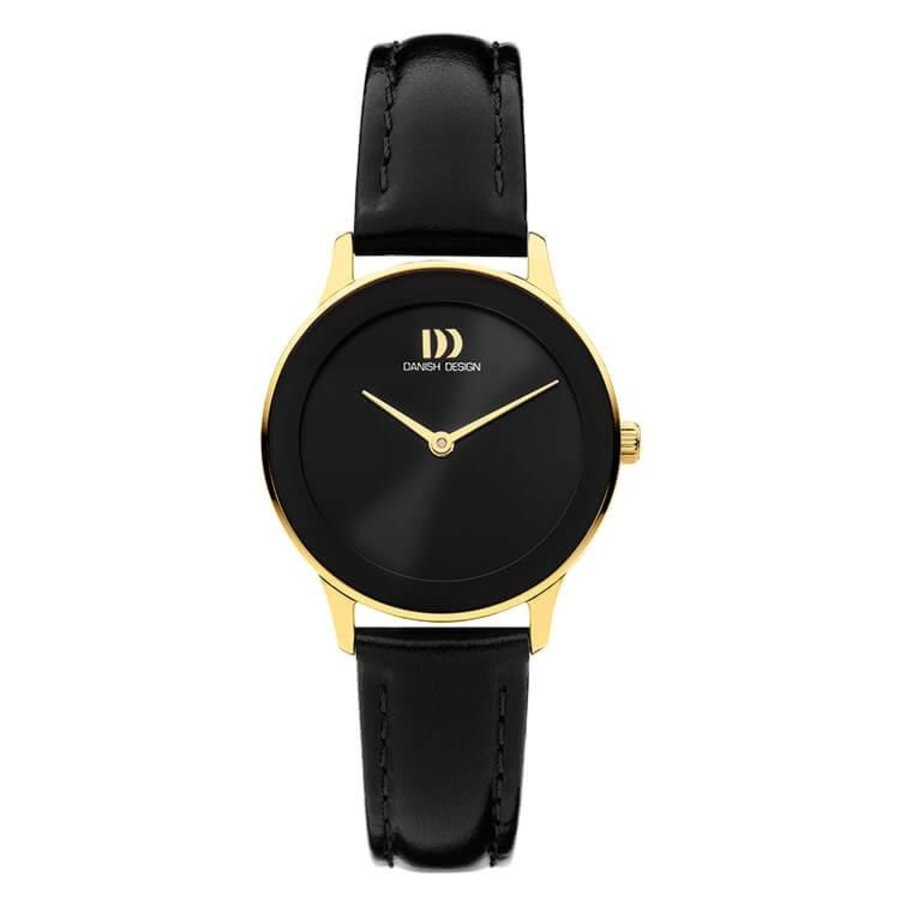 DANISH DESIGN  IV11Q1288  NOSTALGI 1988 BLACK GOLD dames horloge