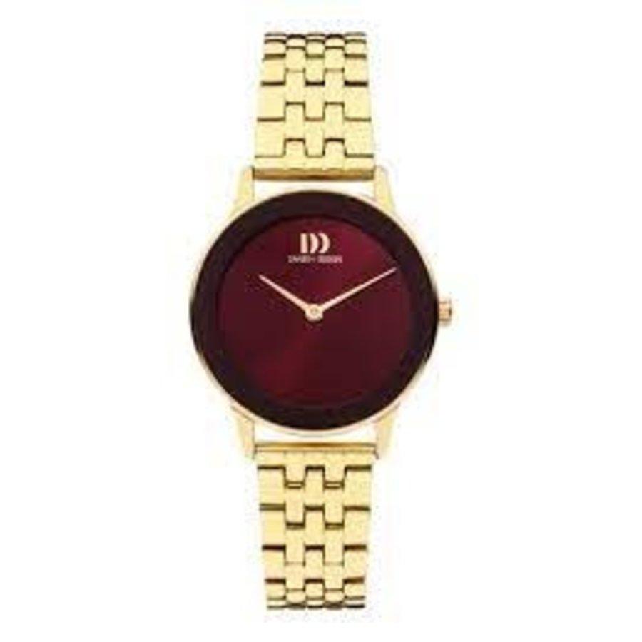 Danish Design  IV97Q1288  Nostalgi 1988  Burgundy dames horloge