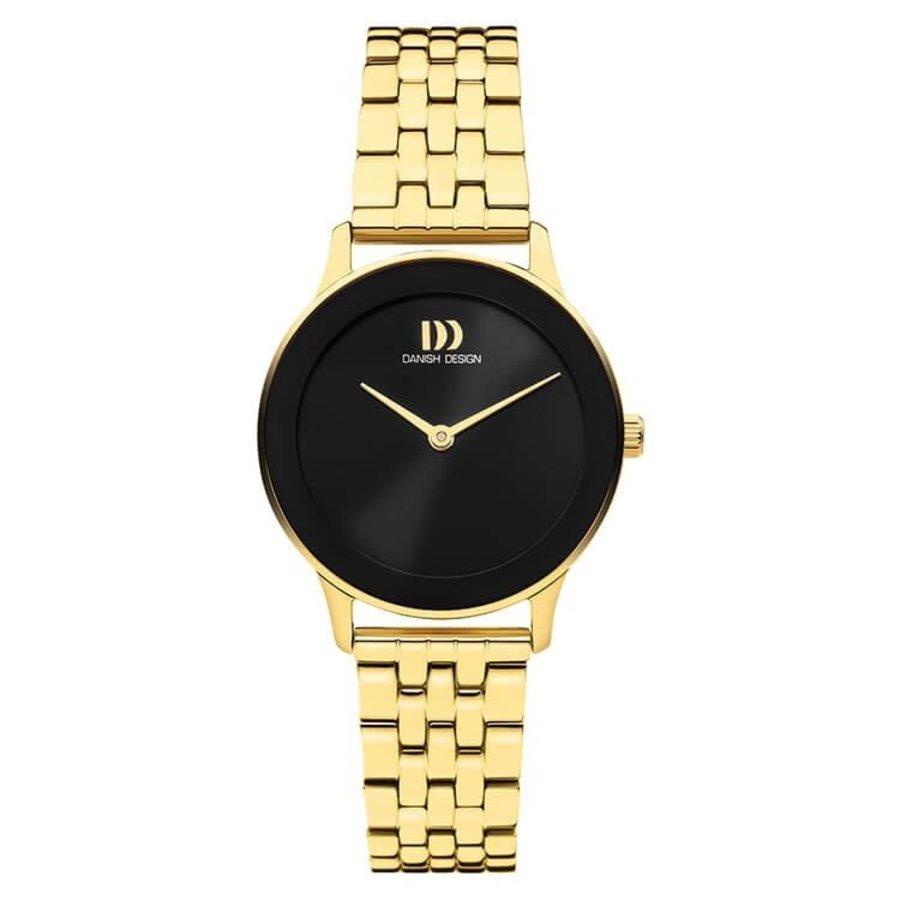 DANISH DESIGN IV99Q1288 NOSTALGI 1988 BLACK LINK  dames horloge