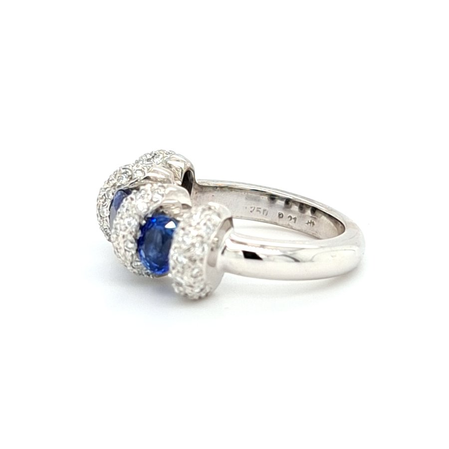 Occasion 18 krt. witgouden ring