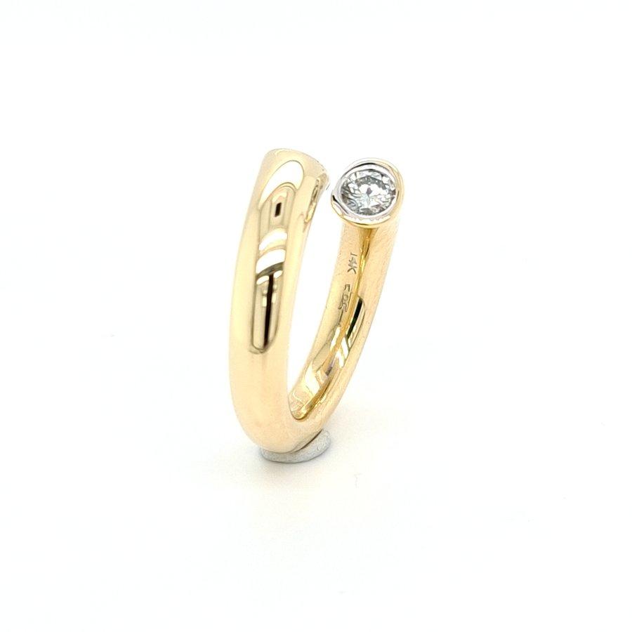 Occasion 14 krt. geelgouden ring