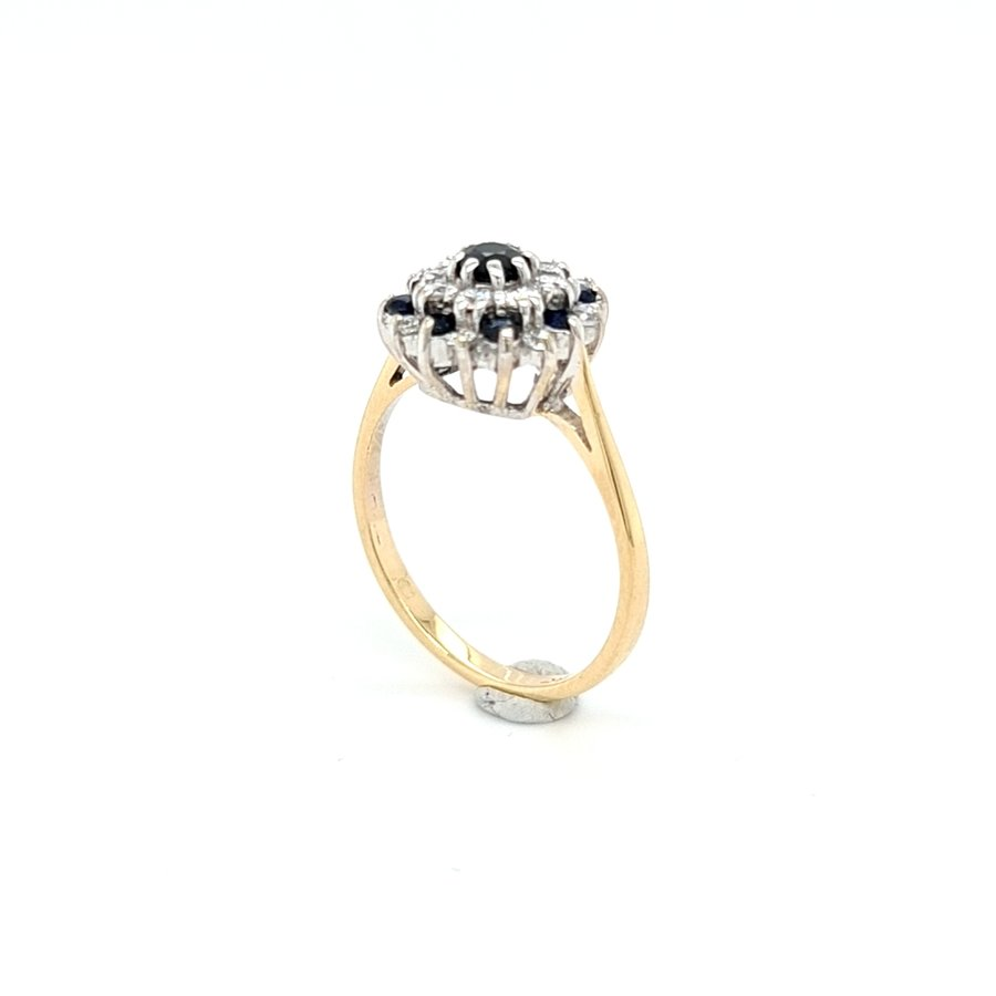 Occasion 14 krt. geelgouden ring (ER)