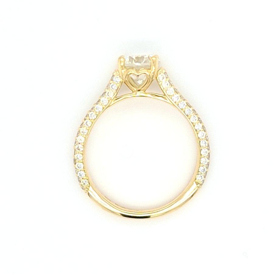 14 krt. geelgouden ring