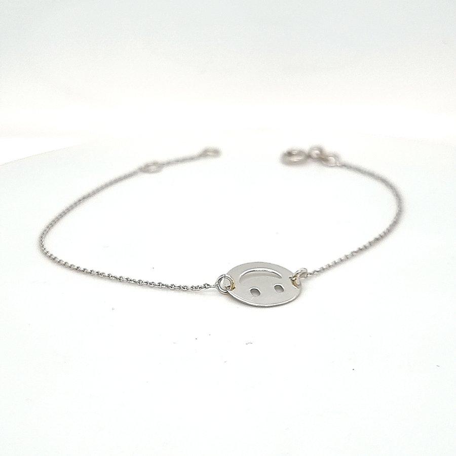 Occasion 18 krt. witgouden armband