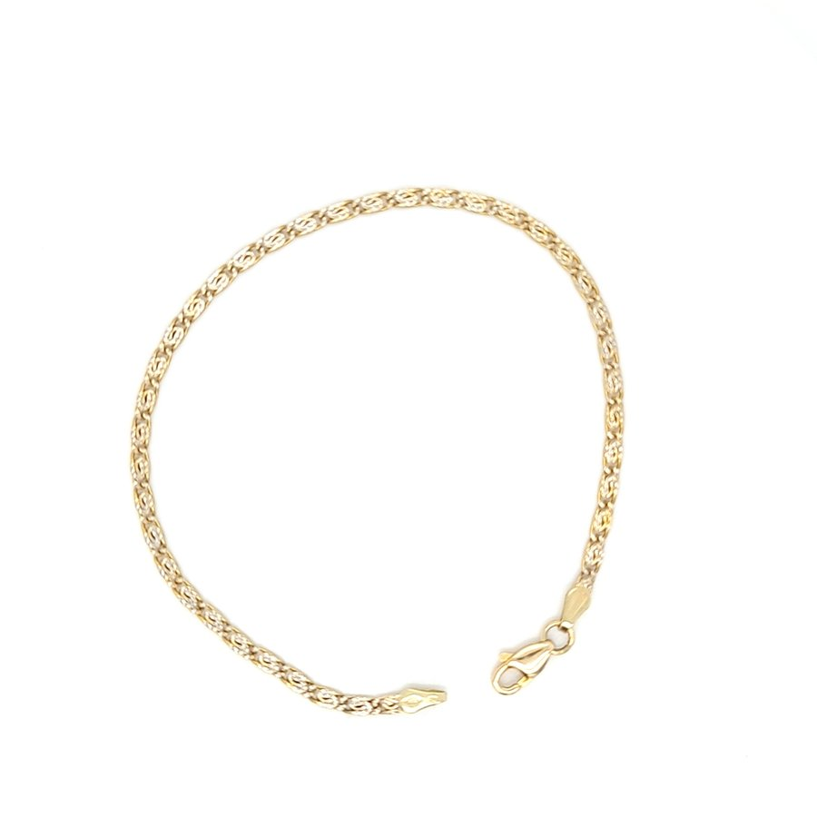 14 krt. bicolour armband