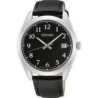 Seiko horloge met leren horlogeband  SUR461P1