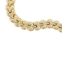 18 krt. geelgouden schakelarmband