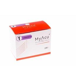 MyAcu MyAcu Akupunktur-Nadeln mit rostfreiem Drahtgriff- Guidetube 0,25x25 mm (5)
