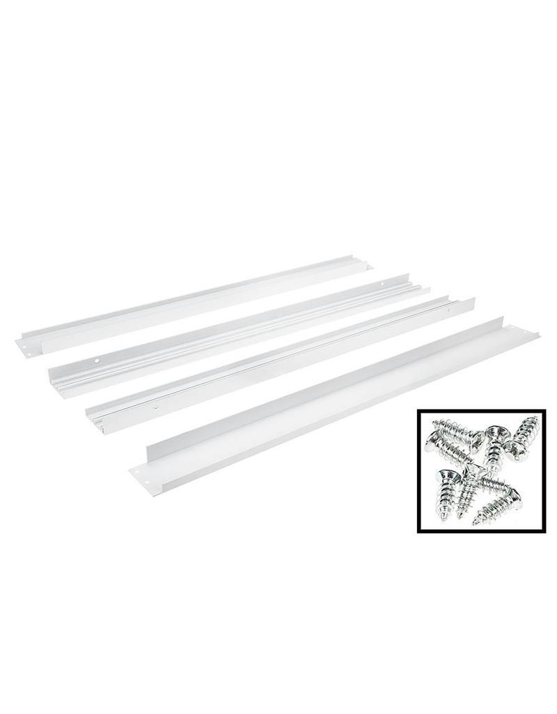 LED paneel opbouw wit - 60x60 frame systeem - 5cm hoog incl. schroeven