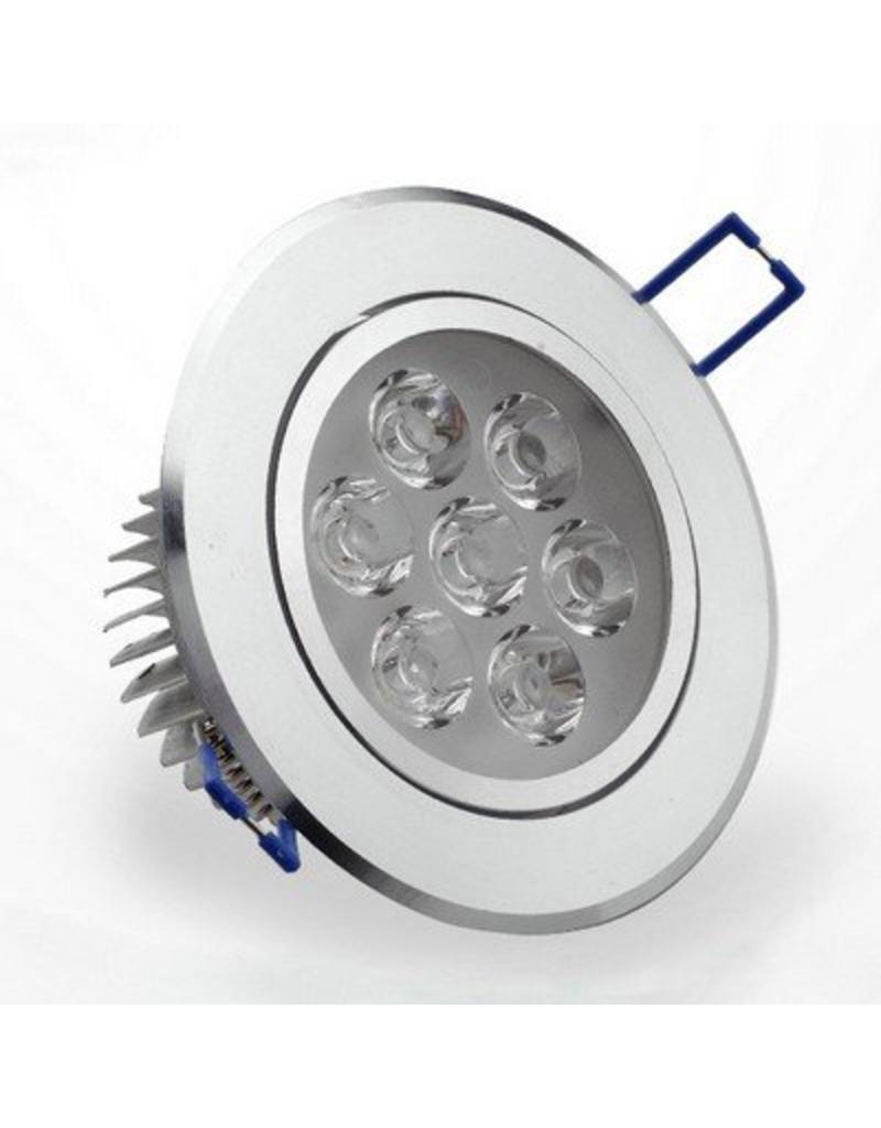 Uitzonderlijk LED inbouwspot 5W 3000K warm wit incl. trafo inbouwmaat 100mm PU21