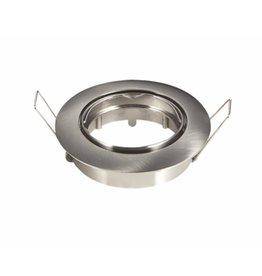 Inbouwspot satijn nikkel rond - kantelbaar - zaagmaat 74mm - buitenmaat 82mm