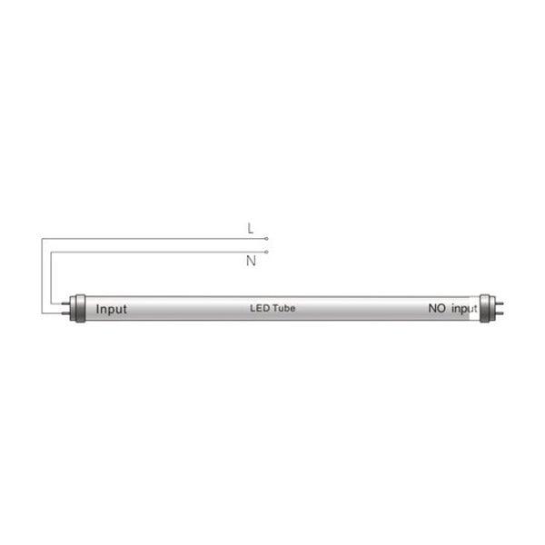LED TL buis 150cm - 24W vervangt 58W - 3000K (830) warm wit licht