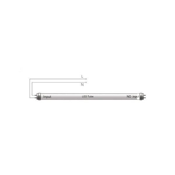LED TL buis - 60cm - 9W vervangt 18W - 3000K (830) warm wit licht
