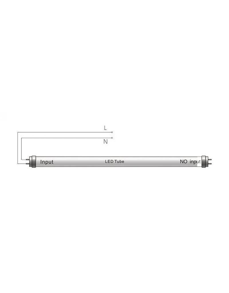 LED TL buis - 60cm - 10W vervangt 18W - 4000K (840) helder wit licht
