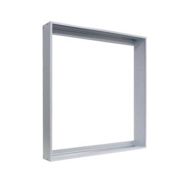 LED paneel opbouw Zilver Aluminium - 60x60cm frame systeem - 5cm hoog incl. schroeven
