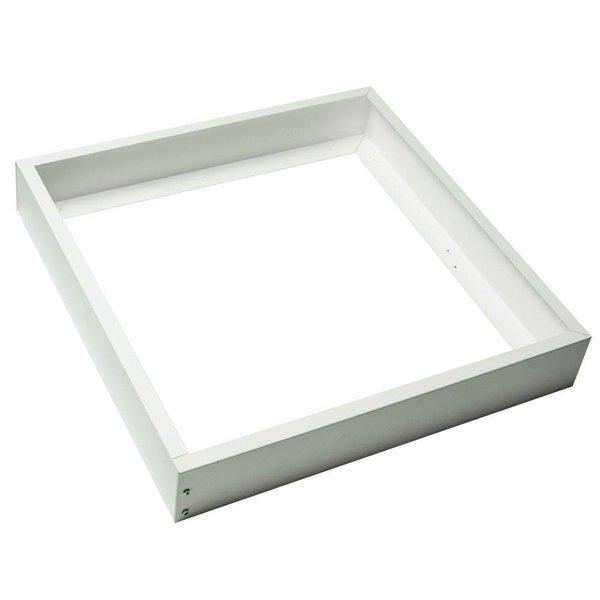 LED paneel opbouw - 30x30cm Framesysteem - Wit aluminium - 5cm hoog incl. schroeven