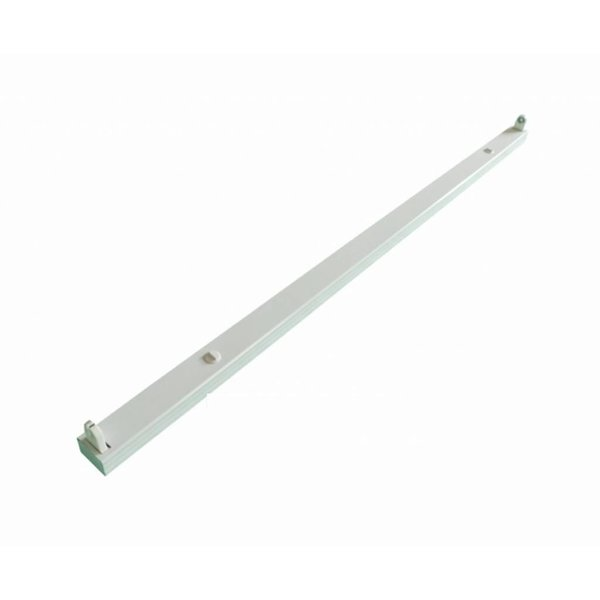 LED TL armatuur - 120cm wit aluminium  - voor een enkel LED TL buis