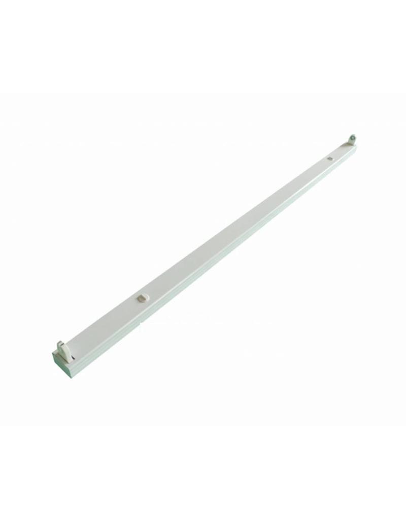 LED TL armatuur - 150cm wit aluminium  - voor een enkel LED TL buis