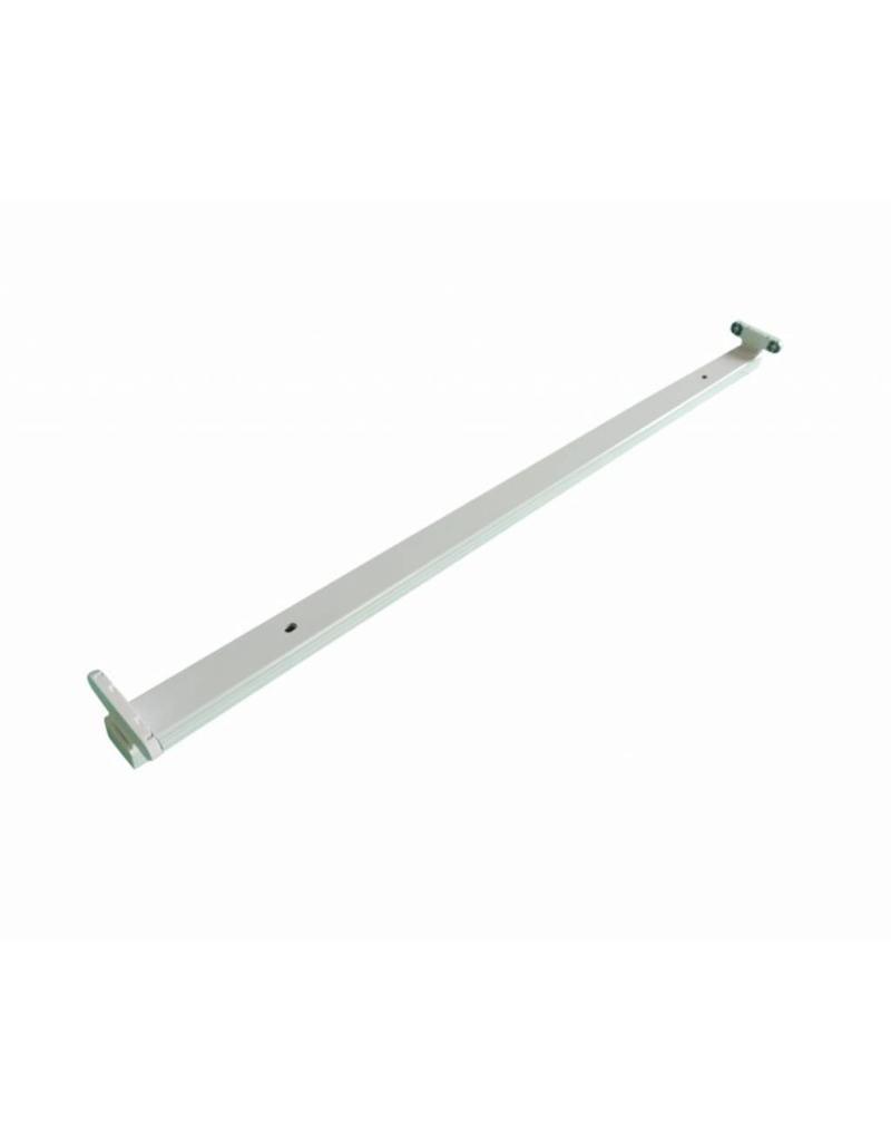 LED TL armatuur - 120cm wit aluminium  - voor dubbele LED TL buis