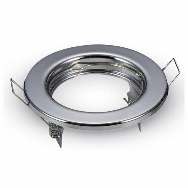 OP=OP Inbouwspot chrome rond - niet kantelbaar - zaagmaat 60mm - buitenmaat 80mm