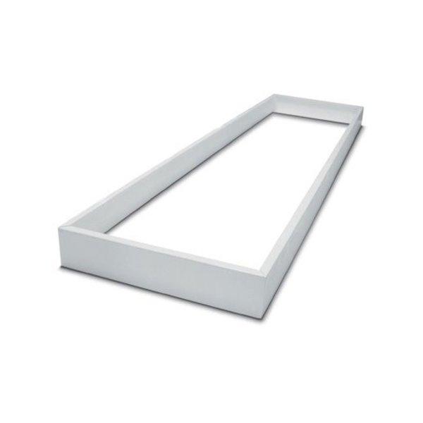 LED paneel opbouw - 120x60cm Framesysteem - Wit aluminium - 5cm hoog incl. schroeven